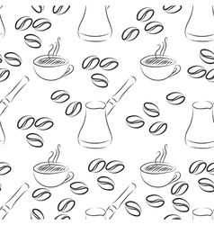 cezve coffee seamless vector image vector image