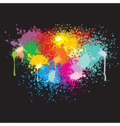 grunge splatter banner vector image