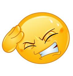 headache emoticon vector image vector image
