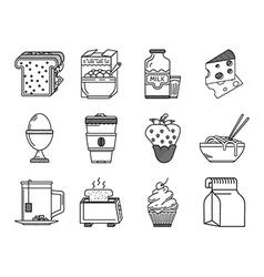 Healthy nutrition black line icon vector image vector image