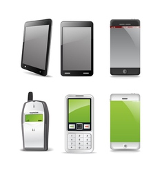 Modern and old gadgets vector image vector image