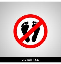 Not Walk icon great for any use vector image vector image