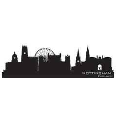 Nottingham England skyline Detailed silhouette vector image vector image