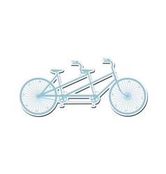 tandem bicycle icon vector image