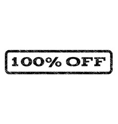 100 percent off watermark stamp vector image vector image