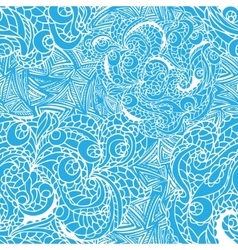 Abstract swirl ethnic seamless pattern vector image