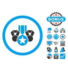 Awards Flat Icon with Bonus vector image vector image
