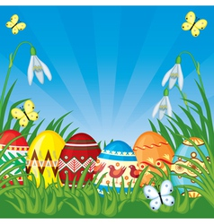 Easter congratulatory background vector image