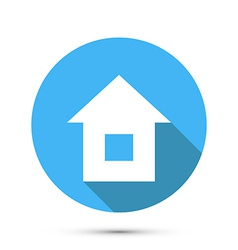 Flat Style Home Icon vector image vector image
