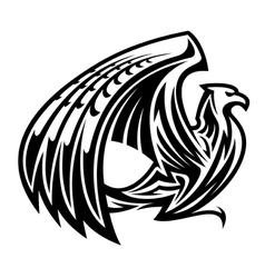 Heraldic griffin bird mascot vector image