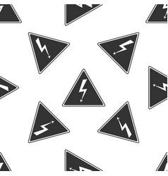 high voltage sign seamless pattern danger symbol vector image