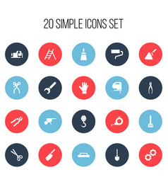 Set of 20 editable apparatus icons includes vector