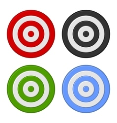 Shooting Target Icon Set Isolated on White vector image