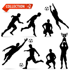 Silhouettes Football Players vector image vector image