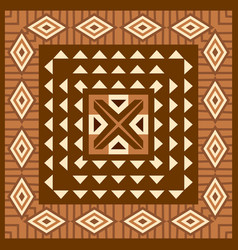 African geometric background vector