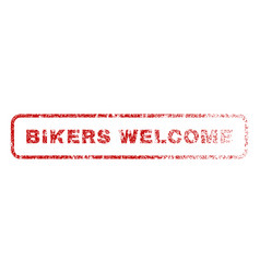 bikers welcome rubber stamp vector image
