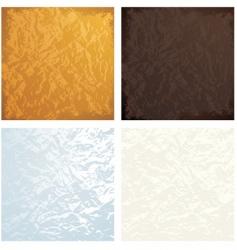 crumple textures vector image