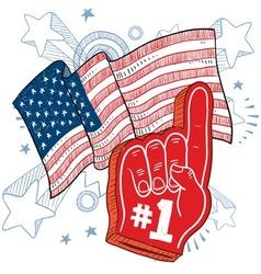 doodle americana foam hand vector image