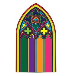 Gothic window vector