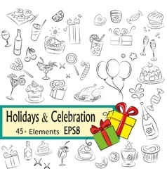 Holidays and Celebration vector image vector image