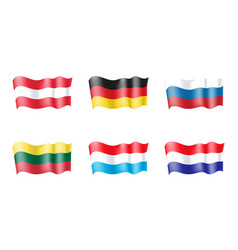 luxembourg netherlands russia lithuania austria vector image