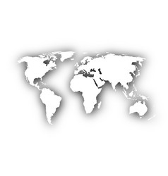 map of the world with shadow vector image