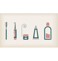 Mouth and teeth care icons vector image