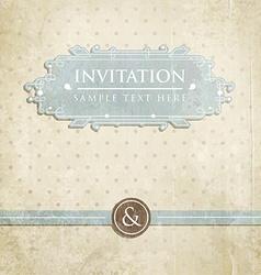 Retro Wedding Invitation with Polka Dots vector image vector image