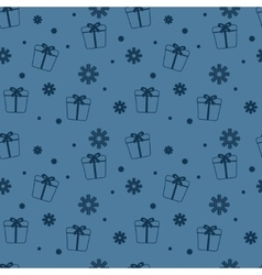 Seamless Christmas pattern New Year theme vector image vector image