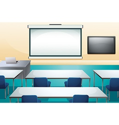 Clean and ogranized classroom vector image vector image