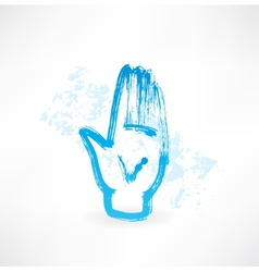 human palm grunge icon vector image vector image
