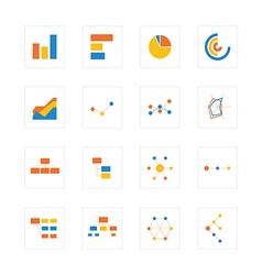 Icon graphandchart vector