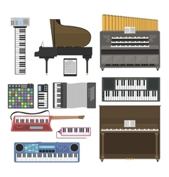 Keyboard musical instruments vector image vector image