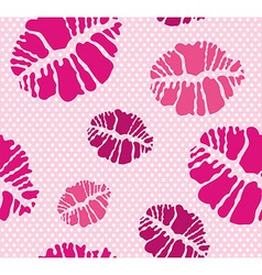 Lipstick Kiss shape print seamless pattern vector image