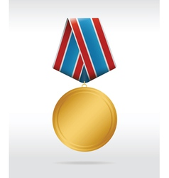 medal round vector image vector image