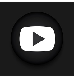 modern play black circle icon vector image