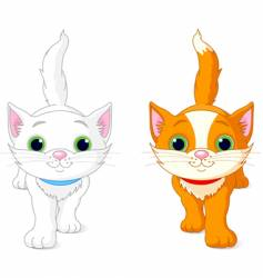 two kittens vector image vector image