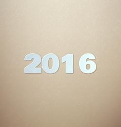 2016 on Cardboard background vector