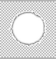 a ragged round hole with soft shadow vector image