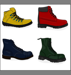 A set of shoes casual shoes eps 8 vector