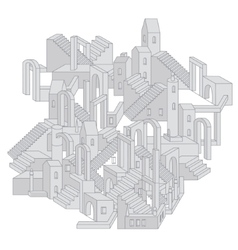 architecture in shape of labyrinth vector image