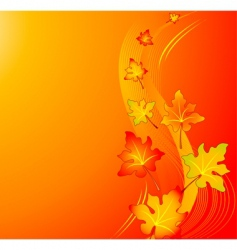 Autumn swirl background vector