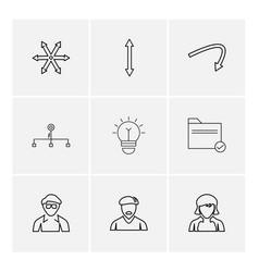 Avtar bulb folder arrows directions avatar vector