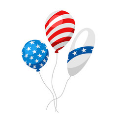 balloons in american flag colors vector image