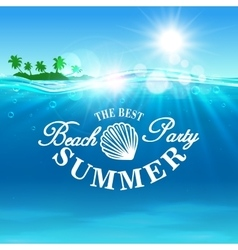 Beach Party poster The best summer placard vector image