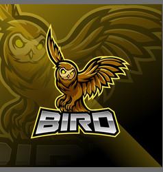 Bird esport mascot logo design vector