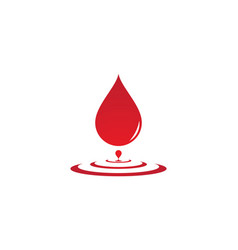 blood logo icon vector image