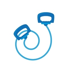 Blue jump rope le sport vector