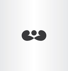 boxer boxing icon black logo symbol vector image vector image