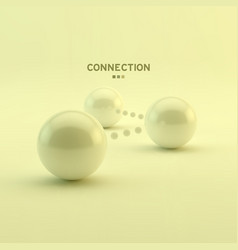 business glossy spheres connection communication vector image